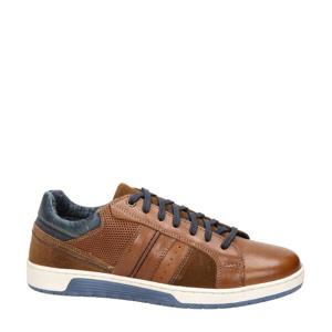 Eddy  leren sneakers bruin