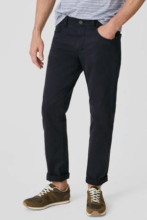 regular fit broek donkerblauw