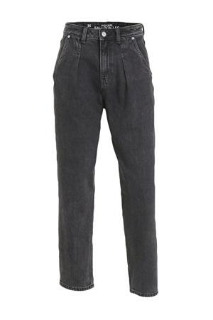cropped high waist mom jeans zwart