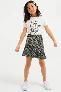 WE Fashion T-shirt met tekst wit, Wit