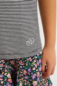 WE Fashion gestreepte singlet zwart/wit, Zwart/wit