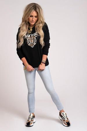 sweater Tiger met printopdruk zwart