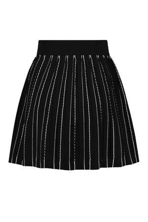rok Puck met plooien zwart/wit