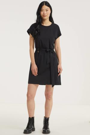 jurk Suzy Safari met ceintuur zwart