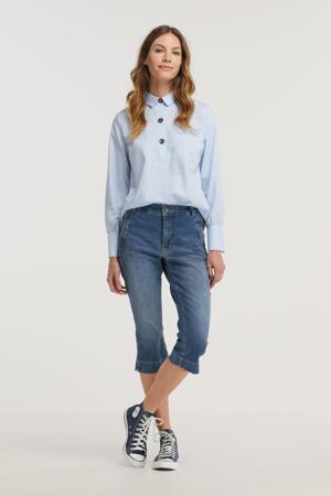 slim fit capri jeans Dream Capri Zip lichtblauw