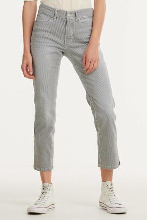 gestreepte cropped slim fit jeans Angela 7/8 d467  summer blue stripe