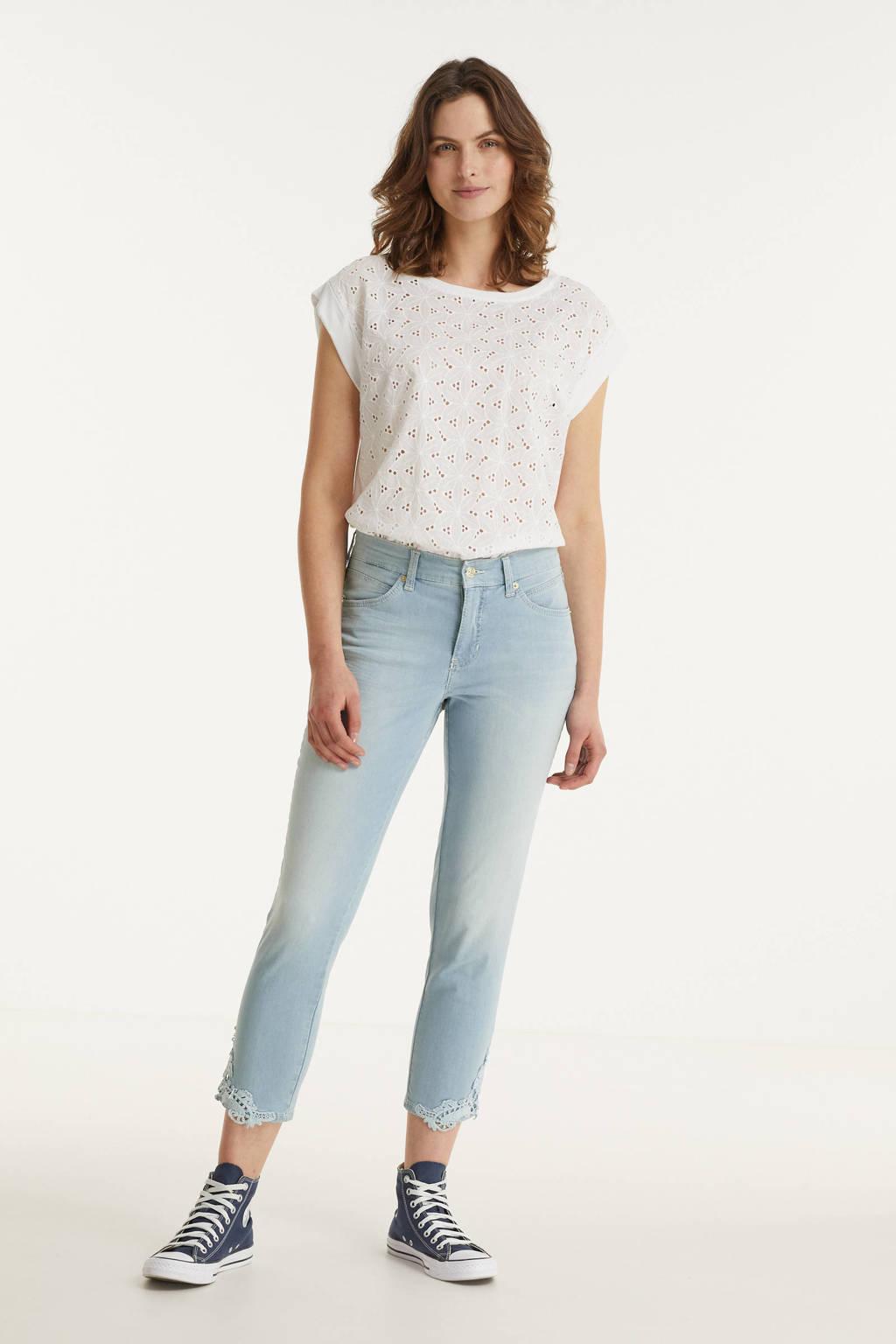 MAC straight fit jeans Melanie Lace 7/8 d225 light summer wash, D225 light summer wash