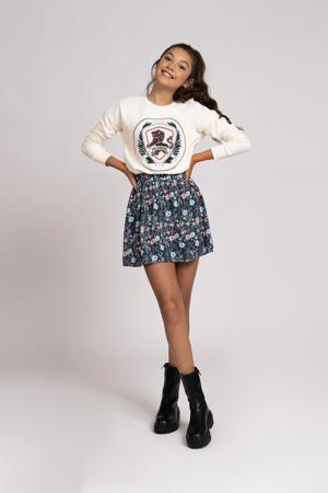 sweater Rosanna met printopdruk vintage wit