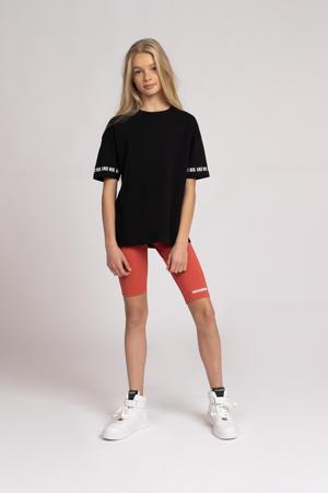 T-shirt Regan met logo zwart