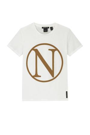 T-shirt Kim N met logo off white
