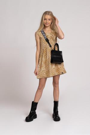 jurk Tavi met paisleyprint lichtbruin