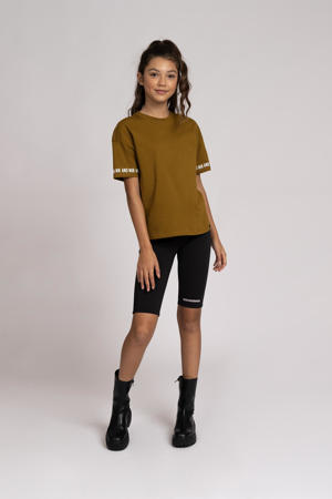 short Sofia met logo zwart