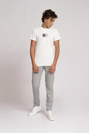 T-shirt Ralf met printopdruk off white