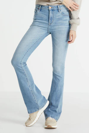 high waist flared jeans Sunrise light blue stone