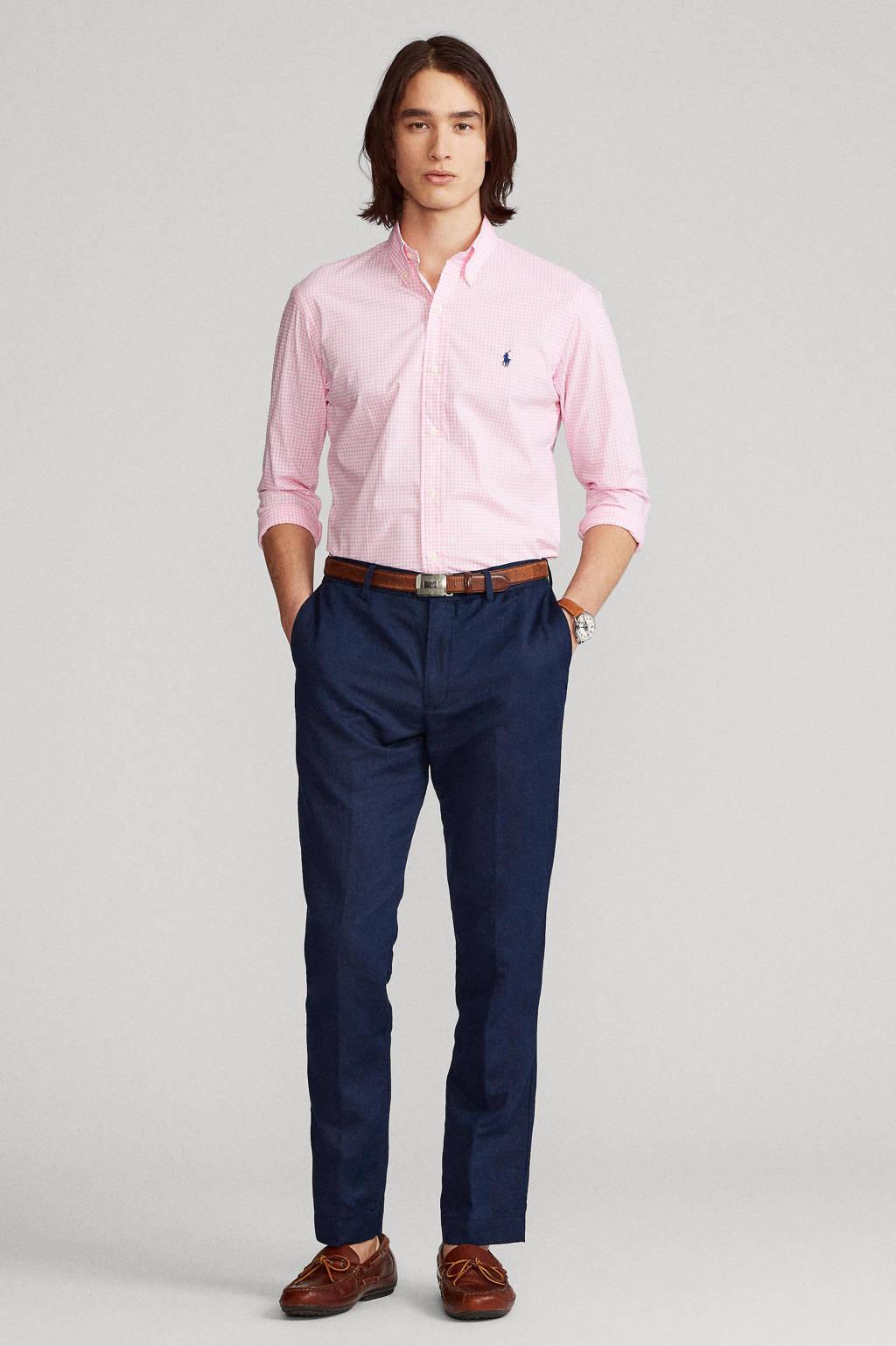 POLO Ralph Lauren geruit regular fit overhemd lichtroze, Lichtroze