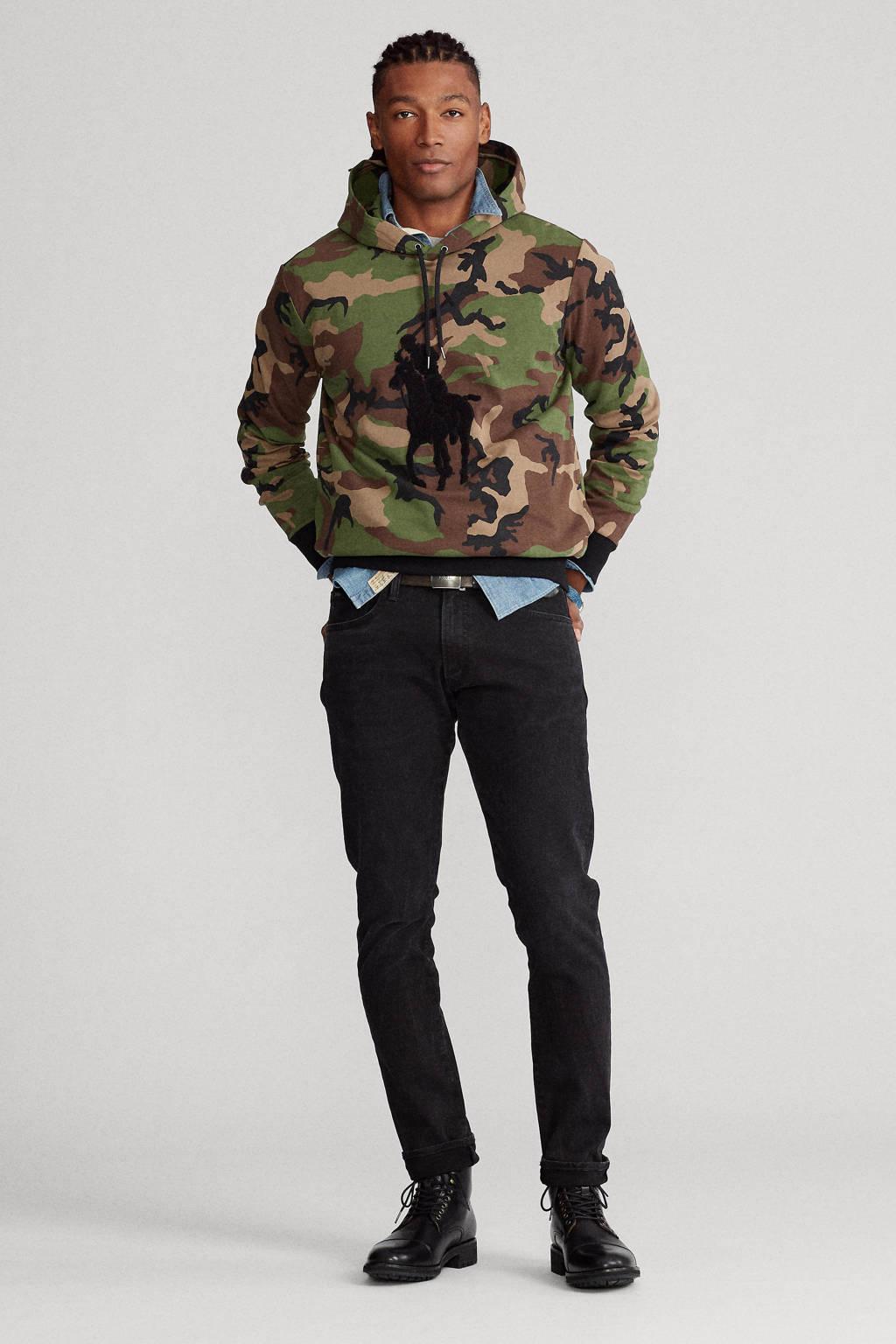 POLO Ralph Lauren hoodie met camouflageprint army, Army