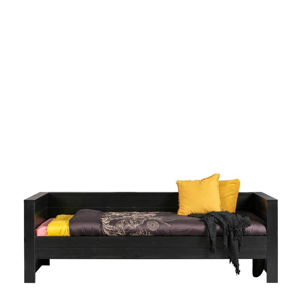 Woood bedbank Dennis (90x200 cm), Zwart