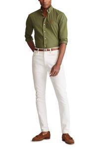 POLO Ralph Lauren slim fit overhemd olijfgroen, Olijfgroen