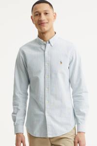 POLO Ralph Lauren gestreept slim fit overhemd lichtblauw/wit, Lichtblauw/wit