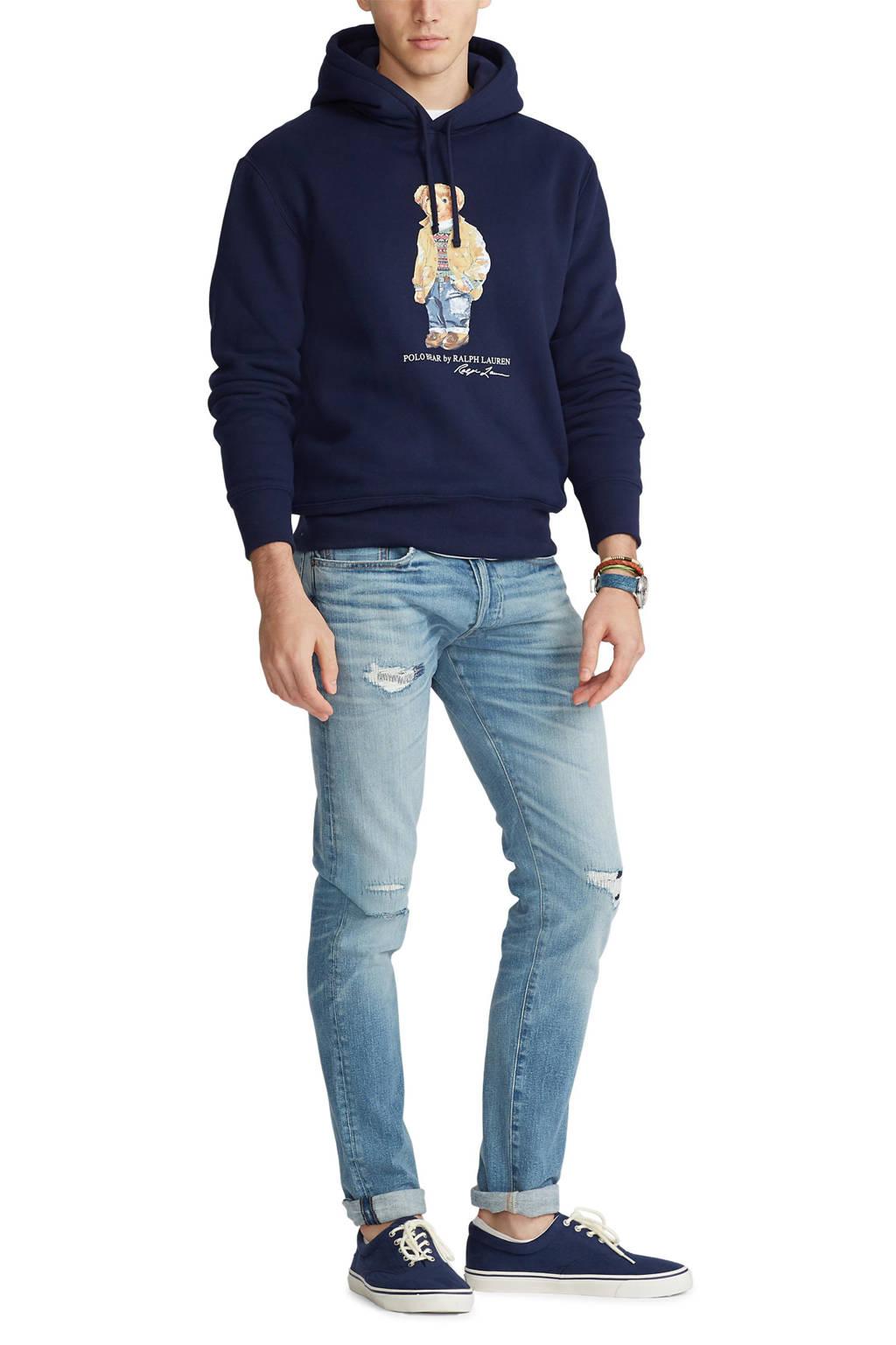 POLO Ralph Lauren hoodie met printopdruk donkerblauw, Donkerblauw