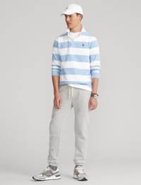 POLO Ralph Lauren gestreepte regular fit polo lichtblauw/wit, Lichtblauw/wit