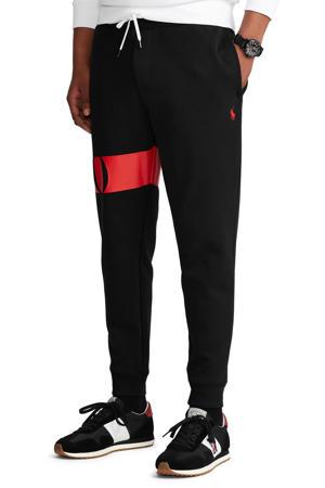 loose fit joggingbroek met logo zwart