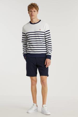 gestreepte sweater wit/donkerblauw