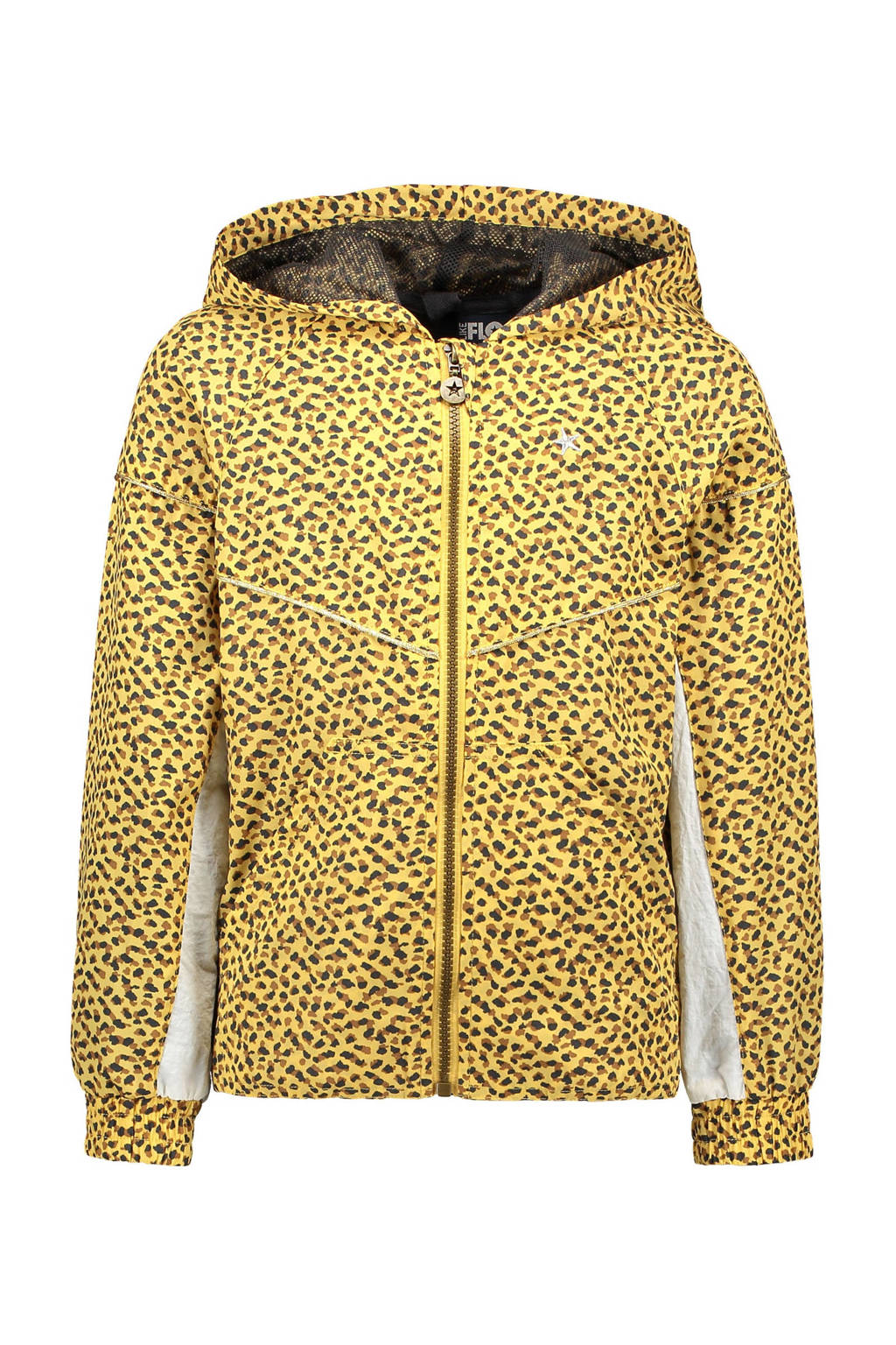 Like Flo  zomerjas met panterprint geel/bruin/wit, Geel/bruin/wit