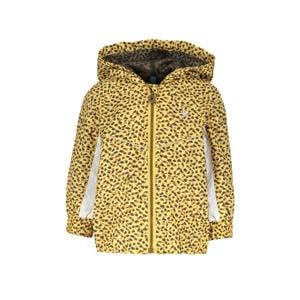 zomerjas met panterprint honinggeel/zwart/wit