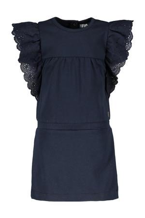 jurk met ruches donkerblauw