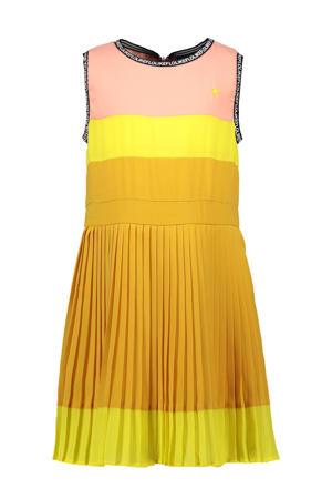 jurk geel/roze/oranje