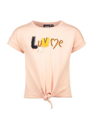 T-shirt met printopdruk zachtroze