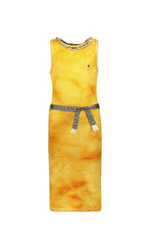 tie-dye maxi jurk zonnebloemgeel