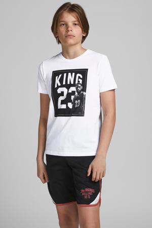 T-shirt Legends met printopdruk wit/zwart