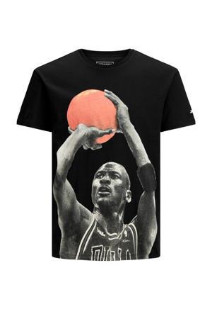T-shirt Legends met printopdruk zwart