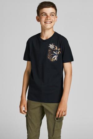T-shirt Tropicana met printopdruk zwart