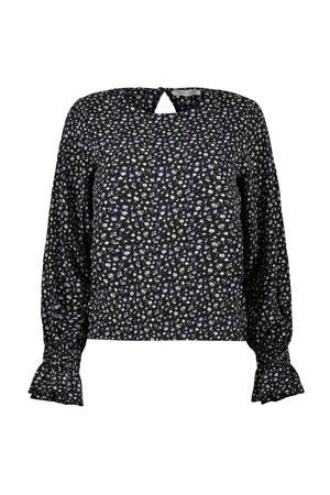 blouse Laviya met all over print zwart