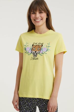T-shirt JACKY met printopdruk geel
