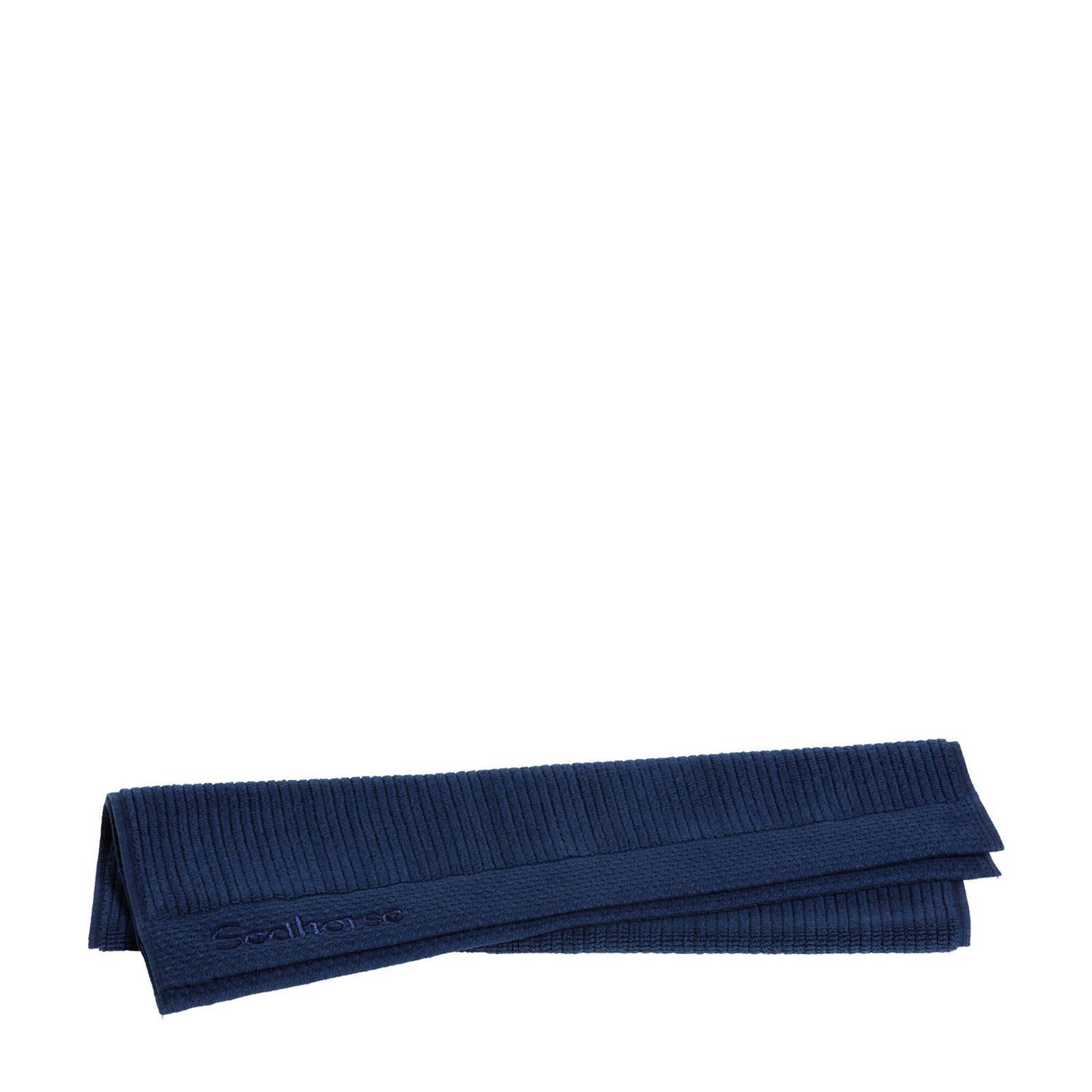 Seahorse Badmat Ridge 50 x 60 cm blauw online kopen
