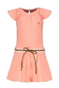 Like Flo jurk met plooien bubblegum roze, Bubblegum Roze