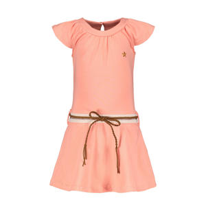jurk met plooien bubblegum roze