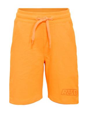 sweatshort Rome neon oranje
