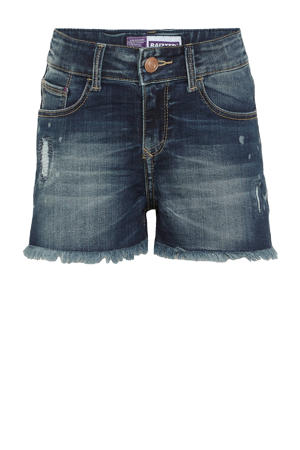high waist jeans short Louisiana mid blue stone