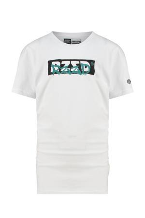 T-shirt Hagen met logo wit
