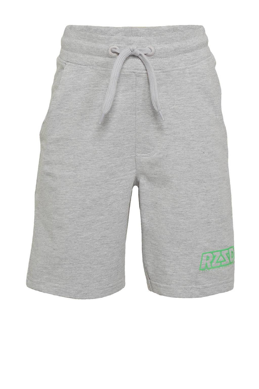 Raizzed regular fit sweatshort Rome lichtgrijs melange, Lichtgrijs melange