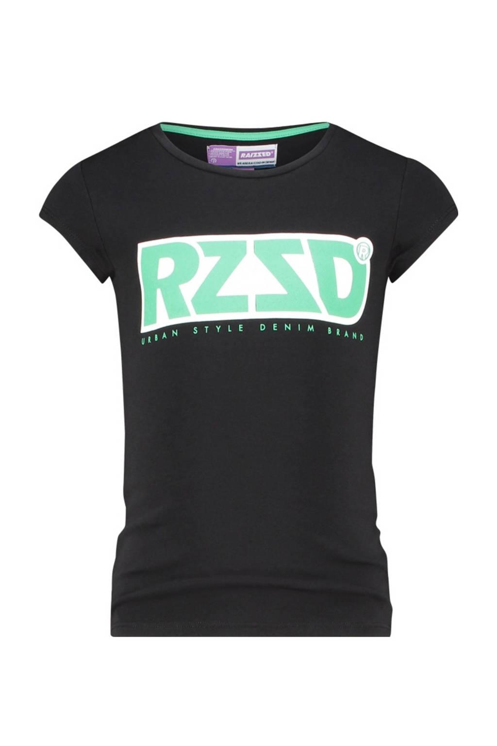 Raizzed T-shirt Denpasar met logo zwart, Zwart