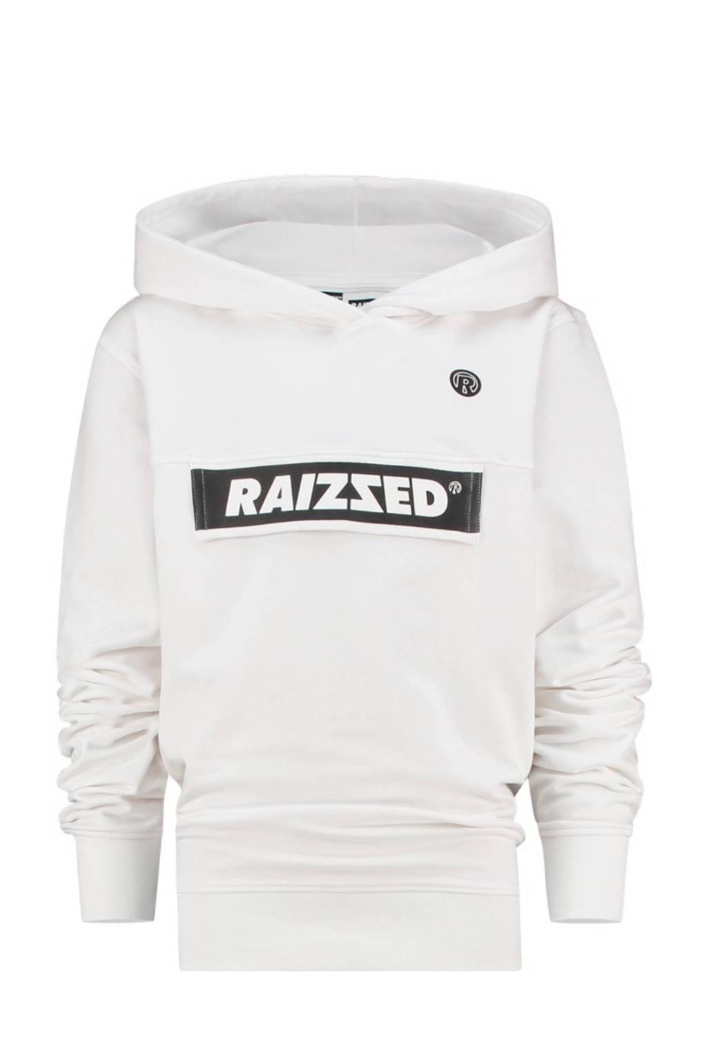 Raizzed hoodie Norwich met logo wit, Wit