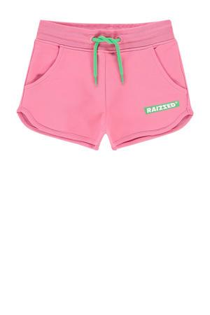 sweatshort Auston met logo roze