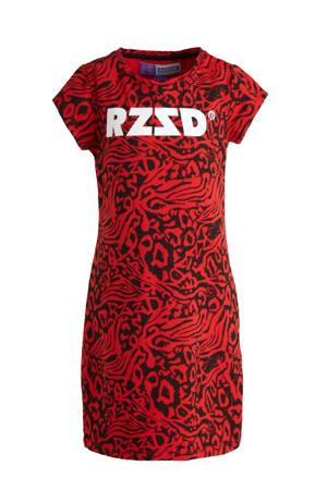 T-shirtjurk Taipei met all over print rood/zwart