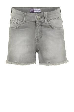 high waist jeans short Louisiana light grey stone